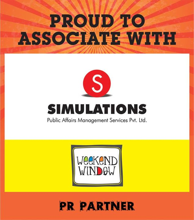 Proud to associate Simulations PR as our PR partner at Weekend Window at YMCA from 4PM to Midnight on 15-16-17 MAY.  Cheers! Stay Creative! Team WW.