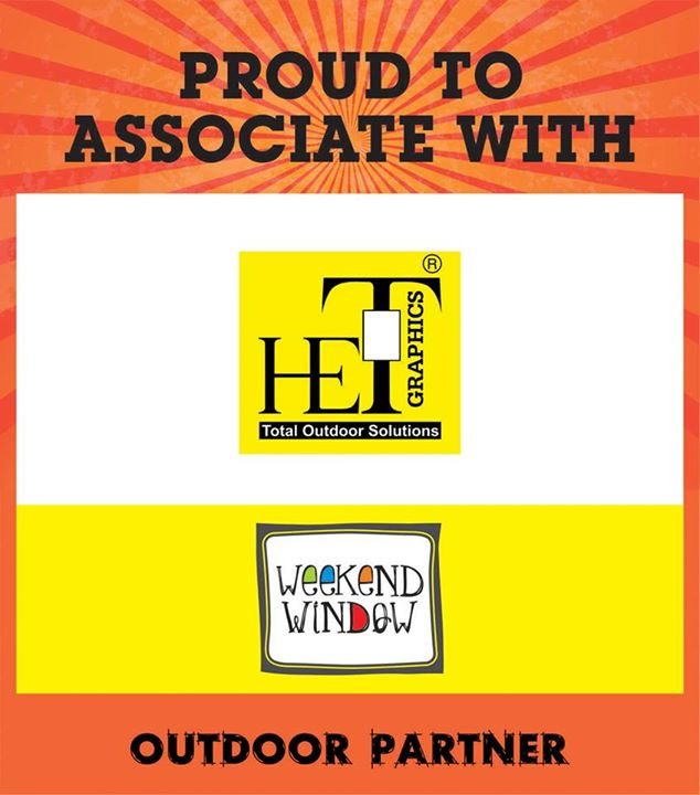 Proud to associate with HET as our outdoor partner at Weekend Window on 15-16-17 MAY at YMCA from 4PM to Midnight.  Cheers! Stay Creative! Team WW.