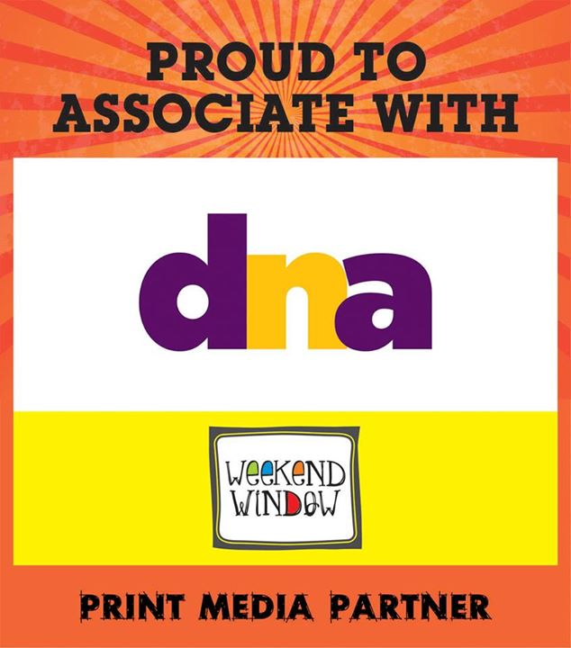 Happy to announce our print media partner DNA India at Weekend Window on 15-16-17 MAY at YMCA from 4PM to Midnight.  Cheers! Stay Creative! Team WW.