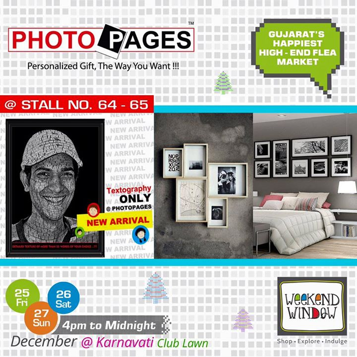 Photopages does personalized photo designing solutions for individuals as well as for corporates. With a dedicated team of creative designers for specialized designing, Personalized Greetings Cards (i.e. Birthday, Anniversary, Occasional Days), Creative Personalized Certificates / Rewards Certificates etc. Check out their large setup at Weekend Window at Stall no. 64-65!  Cheers! Stay Creative! Team WW #weekendwindow #shop #explore #indulge #creative #colorful #workshops #music #food #entertainment #paisawasool #christmas #fleamarket