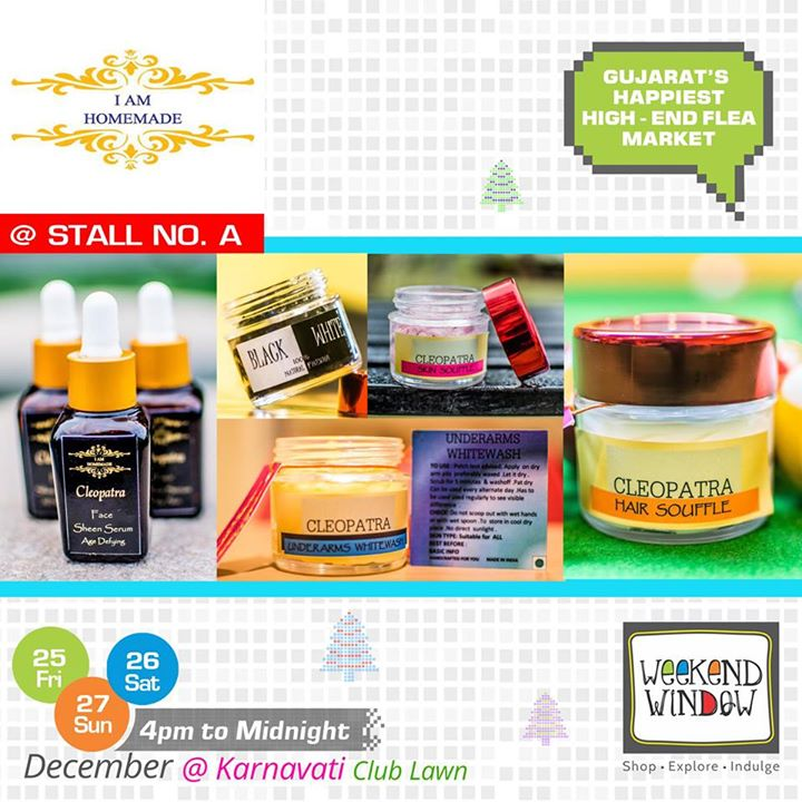 Weekend Window brings to you  I Am Homemade, a personal care brand to pamper your skin and body! This brand is travelling all the way from Bangalore to Stall no. A.  Cheers! Stay Creative! Team WW  #weekendwindow #shop #explore #indulge #kidsactivities #colorful #creativity #food #music #installations #art #workshops #ww
