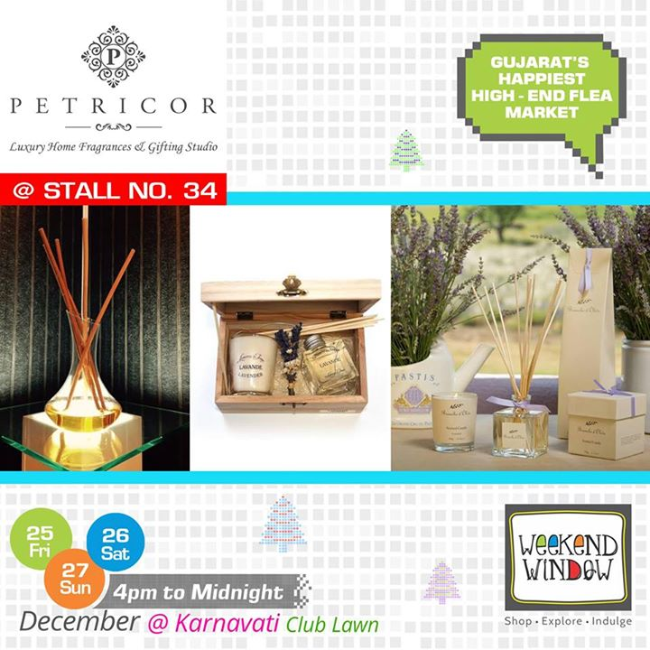 Weekend Window brings Petricor a house of Luxury Home Fragrances, Candles, Accessories at Stall no. 34. They offer unique and quality products from Europe, England, Japan etc for various types of Luxury Gifting Ideas including Wedding & Party Favors, Birth Announcements, Hampers etc. Their products are made using the finest and the rarest raw materials for the most discerning quality seekers.   Cheers! Stay Creative! Team WW  #weekendwindow #shop #explore #indulge #kidsactivities #colorful #creativity #food #music #installations #art #workshops #ww