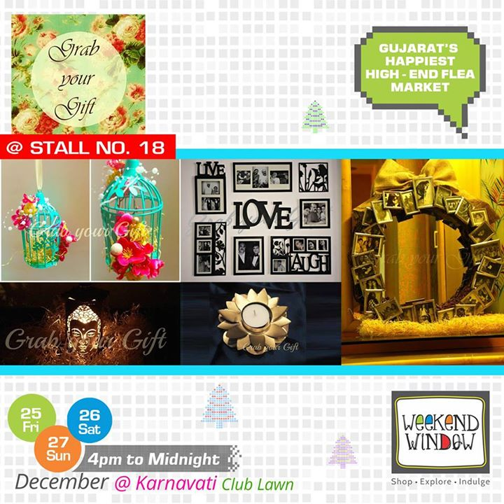 From putting beautiful cages to decorate to making personalized gift albums, scratch card etc, Grab your Gift is devoted to take away all your gifting woes. Seek them out at Stall no. 18 at Weekend Window  Cheers! Stay Creative! Team WW  #weekendwindow #shop #explore #indulge #kidsactivities #colorful #creativity #food #music #installations #art #workshops #ww
