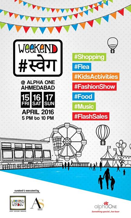 Gear up Ahmedabad!! 24 hours to go to the S.W.A.G! #weekendswag #swag #AlphaOne #shopping #kids #food #fun #music #entertaiment #skyblue #activities   Cheers!