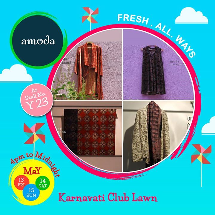 AMODA brings tradition, heritage and experience together producing garments from nature fabrics and natural colors for men's and women's wear and home decor.  Take a look of their collection at weekend window.  Cheers! Stay Creative! Team WW #fleamarket #shop #explore #indulge #Ahmedabad #gujarat
