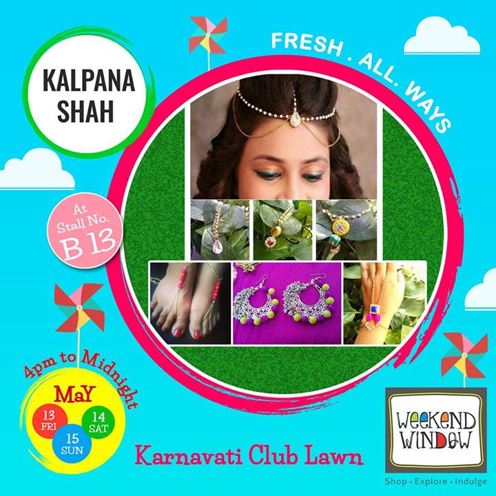 KALPANA SHAH is a jewellery brand which serves you with designer handmade jewellery customized with love.. From handharnesses to head chains and foot accessories; neck-piece, hair accessories; huge range of earings all with popping colours and designs!  Have a look out for their products at their stall at Weekend Window.  Cheers! Stay Creative! Team WW #fleamarket #shop #explore #indulge #Ahmedabad #gujarat