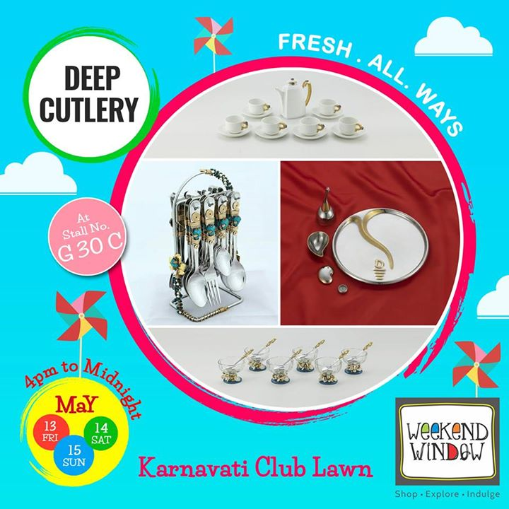 Deep Cutlery is one of the leading manufacturer and supplier of supreme quality Cutlery, Tableware and Home Decor products. They specialize in Gold and Silver Plated Products. And have an Exclusive range of Gifting Products of Premium Quality.  Check their exclusive products at Weekend Window.  Cheers! Stay Creative! Team WW #fleamarket #shop #explore #indulge #Ahmedabad #gujarat