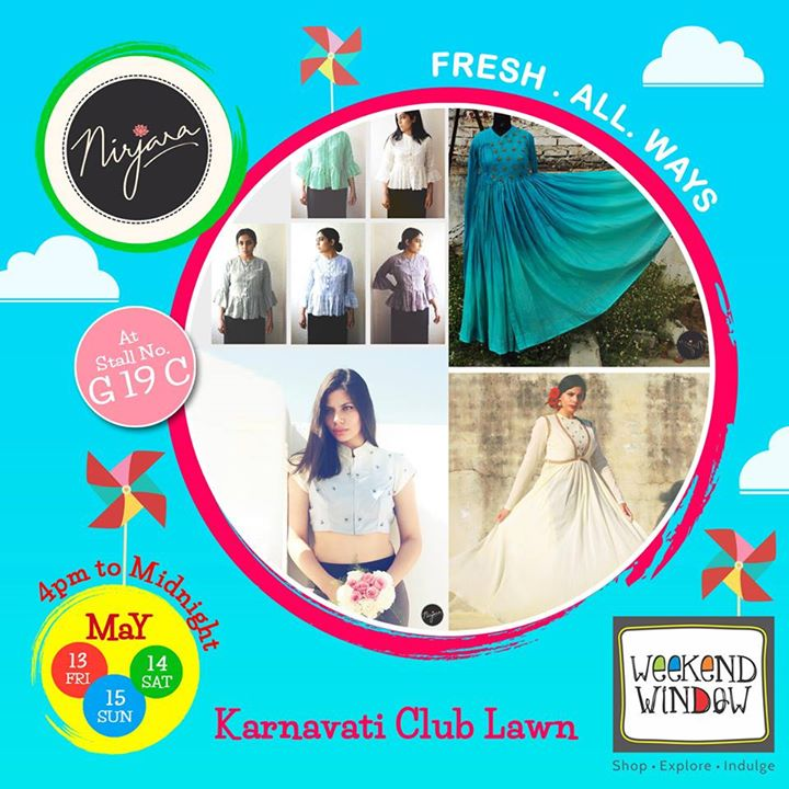 NIRJARA is a modish FashionArt label.  From shirts to skirts and tops to trunks. We love it all! ♥  Be fashionable with them at Weekend Window.  Cheers! Stay Creative! Team WW #fleamarket #shop #explore #indulge #Ahmedabad #gujarat