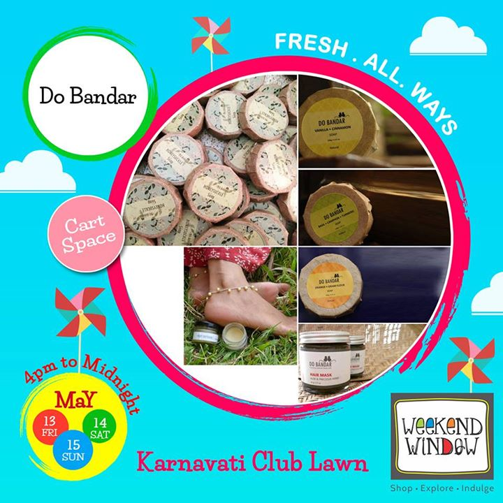 At Do Bandar, we hand-craft body care experiences that work on the mind, body and soul. Our products are made from the purest natural ingredients, completely chemical-free, hand-crafted, and made with love.   Have a look by their products at Weekend Window.  Cheers! Stay Creative! Team WW #fleamarket #shop #explore #indulge #Ahmedabad #gujarat