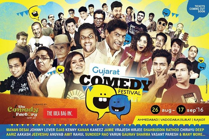 From our umbrella Brand,  @theideabaginc we present Gujarat's biggest Comedy Festival.   #GujaratComedyFestival  #Ahmedabad #Surat #Vadodara #Rajkot #TheComedyFactory #TheIdeaBagInc #comedyscenes #comedy #standupcomedy #gcf2k16 #weekendwindow #ww