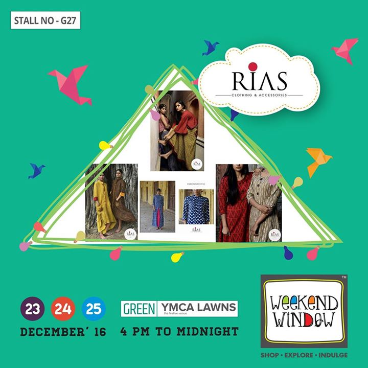 Rias Clothing a Jaipur based modern brand which is infused with Indian traditional craftsmen ship . Natural indigo,ajrakh ,block and dabu prints garments in modern silhouettes makes this brand unique and contemporary.