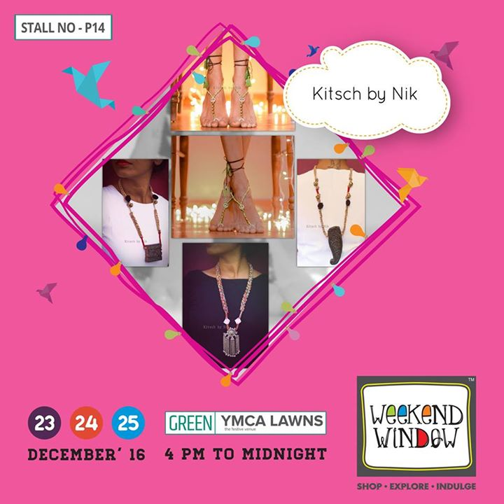 Started before three years, Kitsch by Nik by Nirjari Shah is a brand that brings unique accessories such as Feet accessories, Neck pieces & much more. It's all unusual & unique  Cheers! Stay Creative!