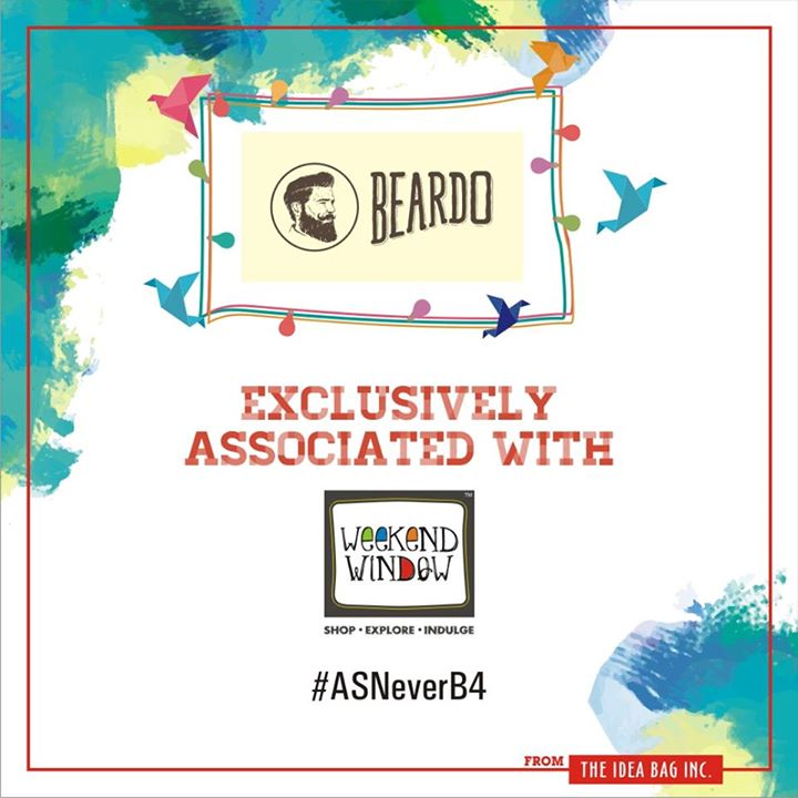 Proud to associate with BEARDO for Men  as our grooming partner.  Cheers! Stay Creative!