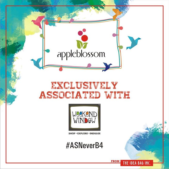 We are Happy to associate with Apple Blossom  Cheers! Stay Creative!