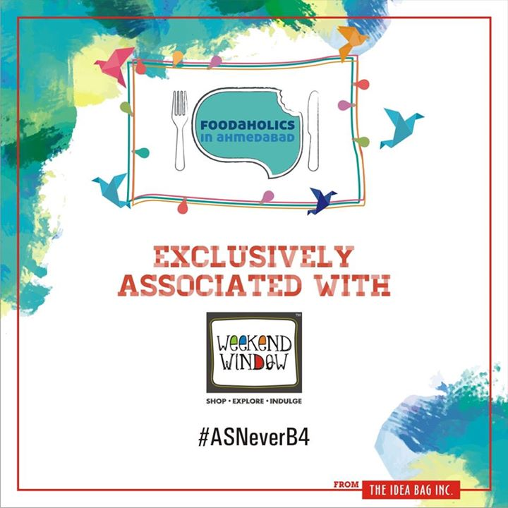 What else can be happier than bringing together people who love food; Love it and Live for it. Foodaholics in Ahmedabad group needs no introduction. The most happening group connecting foodies has always thrived with excitement, questions, suggestions, reviews and more. Happy to have you!   #experienceASNEverB4 #weekendwindowASNeverBefore #dec2016 #christmas #ahmedabad #shopping #food #music #entertainment #standupcomedy #comedians #carnival #fleamarket #shop #explore #indulge  Cheers! Stay Creative!
