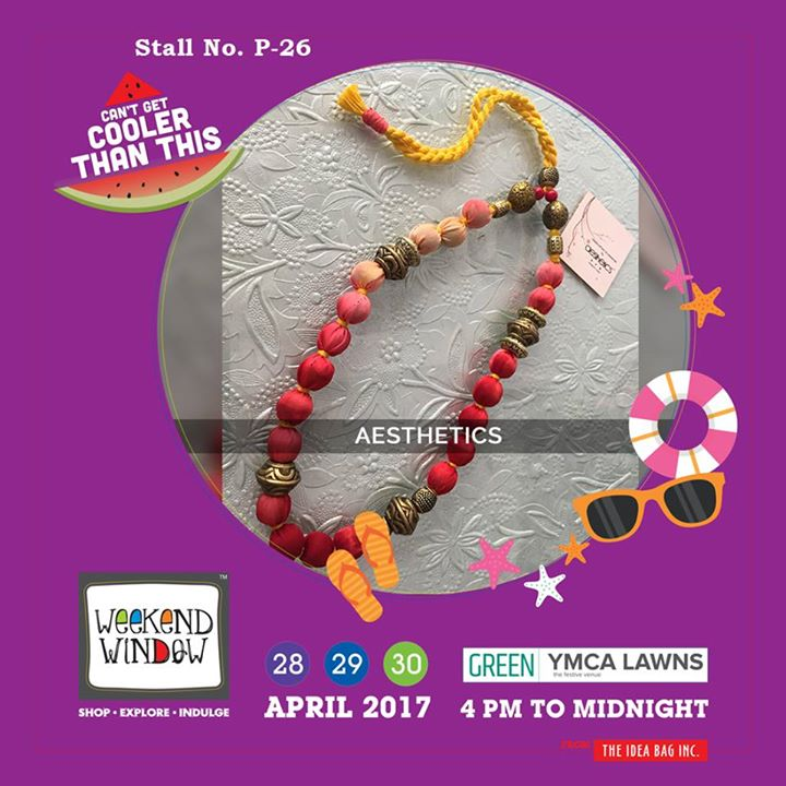 Give yourself a colorful pinch by Aesthetics..!! Weekend Window XI gives you a chance to come, explore and buy the funky yet elegant range for accessories to enrich your attire..!! #WW #wwXI #summervibe #kidsactivity #surpriseloaded #experience #shop #explore #indulge #ahmedabad #shopping #carnival #11thedition #weekendwindow #chillingtime #biggerandbetter #seeyouthere