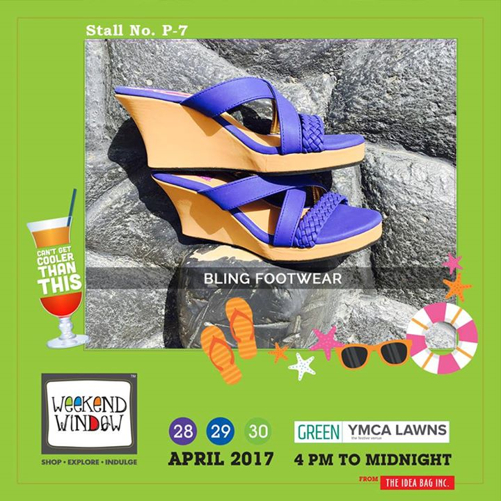 It is witty, elegant, vivacious; it is something that defines who you are.. It is Bling footwears... !! Get variations to choose from for stylish, trendy & tempting footwears at Weekend Window XI..!! #WW #wwXI #summervibe #kidsactivity #surpriseloaded #experience #shop #explore #indulge #ahmedabad #shopping #carnival #11thedition #weekendwindow #chillingtime #biggerandbetter #seeyouthere