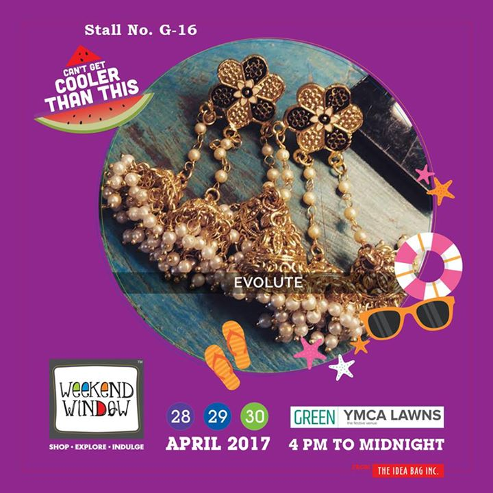 Evolute brings to you, handcrafted jewellery with vibrant colours that match with every mood of yours and speak of your eclectic taste in fashion..!!! Come fill your bags and empty your pockets at Weekend Window XI..!! #WW #wwXI #summervibe #kidsactivity #surpriseloaded #experience #shop #explore #indulge #ahmedabad #shopping #carnival #11thedition #weekendwindow #chillingtime #biggerandbetter #seeyouthere
