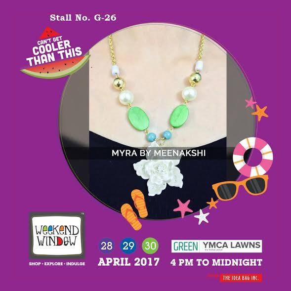 Myra by Meenakshi gives you her splendid collection of hand crafted indo-western jewellery, where each design is luscious & one of a kind. Weekend Window XI gives you the chance to get yourself loaded with new stuff..!!! #WW #wwXI #summervibe #kidsactivity #surpriseloaded #experience #shop #explore #indulge #ahmedabad #shopping #carnival #11thedition #weekendwindow #chillingtime #biggerandbetter #seeyouthere