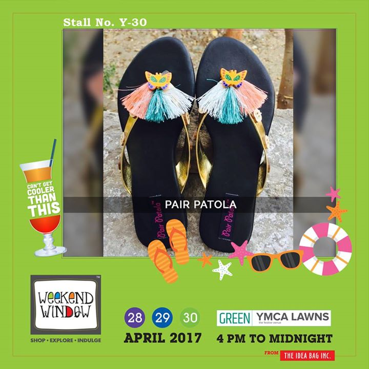Pair Patola is specially designed to equip your feet with quirkiness and fortitude. Show your feet some love by Pair Patola only at Weekend Window XI..!! Do Drop By.. #WW #wwXI #summervibe #kidsactivity #surpriseloaded #experience #shop #explore #indulge #ahmedabad #shopping #carnival #11thedition #weekendwindow #chillingtime #biggerandbetter #seeyouthere