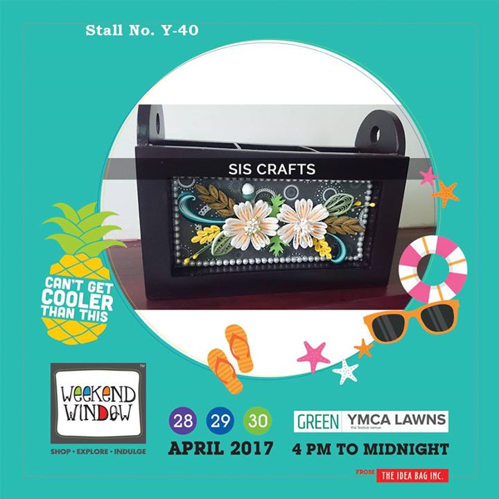 SIS Crafts stuff is handmade using paper quelling, decoupage, sospeso, mix media, punch craft, decoden n more...!!! Bring art to your house by SIS CRAFTS only at Weekend Window XI...!!! #WW #wwXI #summervibe #kidsactivity #surpriseloaded #experience #shop #explore #indulge #ahmedabad #shopping #carnival #11thedition #weekendwindow #chillingtime #biggerandbetter #seeyouthere