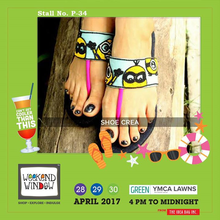 Wearing footwear and wearing Shoe Crea... there's a difference...!! For footwear lovers Shoe Crea is here to give you a high...!!! Step in the world of footwear only at Weekend Window XI....!!! #WW #wwXI #summervibe #kidsactivity #surpriseloaded #experience#shop #explore #indulge #ahmedabad #shopping #carnival#11thedition #weekendwindow #chillingtime #biggerandbetter#seeyouthere