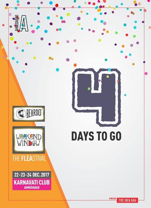 Countdown Begins!!!🎊🎉  Hope you all are excited as us! So see you all at Gujarat's biggest flea, Beardo Weekend Window ♥️  Date: 22-23-24 December, 2017 Time: 4 pm to Mid night Venue: Karnavati Club Lawn, Ahmedabad #weekendwindow #theFLEAstival #theunbeatable #shop #explore #indulge #fleamarket #workshops #love #BeardoWeekendWindow