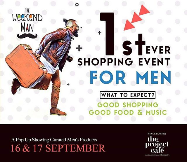 Formals, footwear, accessories, office stationary.. We have sorted it all for you! Come along with your friends and bring your empty shopping bags cuz this is the FIRST ever all men's pop-up curated specially for you!  Date : 16th - 17th September, 2017 Timings : 12 Noon to 9 PM Venue : The Project Cafe  #theweekendman #weekendwindow #theideabaginc #curatedevent #formals #footwear #chappals #shoes #suits #jacketsforhim #casuals #shirts #designeraccessories #handcrafted #customizedforhim #myman #men #giftsforhim #groomsmen #mensshopping #shoppingforhim #husband #dapper #officewear #smart #menswear #gentleman
