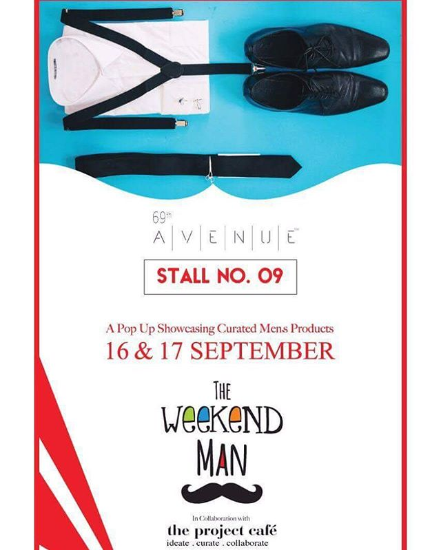 Vintage, trendy, smart and all-time-wear accessories for all you men is waiting for you!  69th Avenue is a lifestyle brand offering a wide range of Fashion Accessories for Men.  Date : 16-17 September, 2017 Timings : 12 noon to 9 pm Venue : The Project Cafe  #69thavenue #fashion #mensfashion #pocketsquare #tieclips #tiepocketsquare #cufflinks #quirkycufflinks #quirky #theweekendman #weekendwindow #theideabaginc #curatedevent #designeraccessories #handcrafted #customizedforhim #men #giftsforhim #groomsmen #mensshopping #shoppingforhim #husband #dapper #officewear #smart #formals #menswear #gentleman
