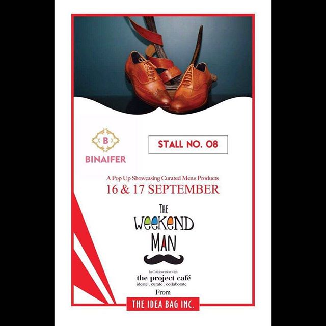 #BinaiferMerchant bring to us some very intricately handcrafted formal shoes and chappals to meet up with all the footwear demands whether office, party or festive.  Check them out at #TheWeekendMan !  Date : 16th-17th September, 2017 Timings : 12 Noon to 9 PM Venue : The Project Cafe  #shoes #menshoes #bespokeshoes #customemade #gentlemanonly #monkshoes #brownshoes #binaifermerchant #weekendwindow #theideabaginc #curatedevent #suits #jacketsforhim #casuals #shirts #designeraccessories #handcrafted #customizedforhim #myman #men #giftsforhim #groomsmen #mensshopping #shoppingforhim #dapper