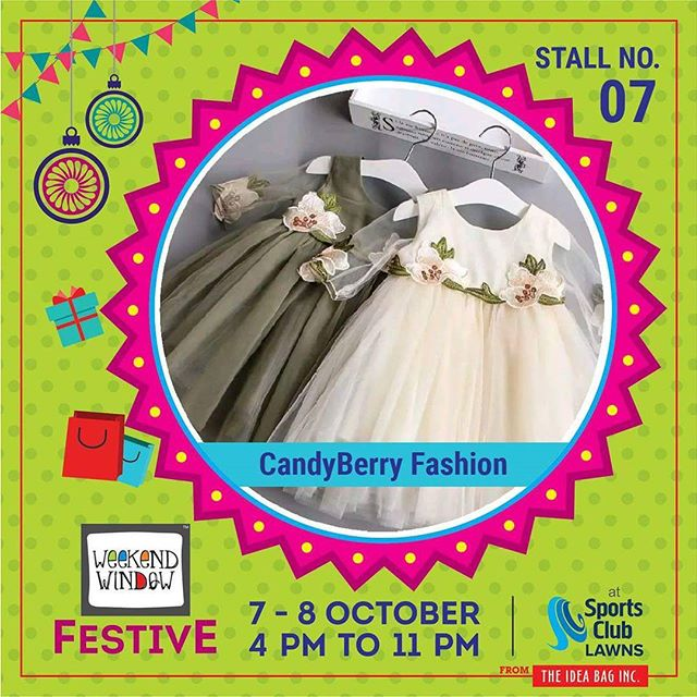A bright playground of interactivity full of visual surprise inspired by our perception of color & form. Exclusive & Trendy range of kids fashion clothing & accessories for infants, toddlers & kids up to 14 years of age presented by #candyberryfashion #diwalipreparations🎊 #weekendwindow #theideabaginc #curatedevent #diwalishopping #weekendwindowfestive #fleastival #prediwali #shopping #diwaligifting #poptasticcolors #kidsfashion  #sportsclubofgujarat #diwalivibes #festivevibes  #whatwomenwant #shoptillyoudrop #kidsactivities #workshops #craft #Foodaholics #Fun #Entertainment #music #enjoyement #love #foodporn #foodbitting #Fleamarket