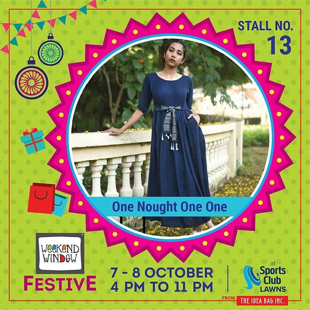 @one_nought_one_one is an Apparel and Accessory label.They are five crazy friends out on a journey of fashion & they would love to have you all as their co-passengers. #onenoughtoneone #weekendwindow #theideabaginc #curatedevent #diwalishopping #weekendwindowfestive #prediwali #shopping #diwaligifting  #sportsclubofgujarat #diwalivibes #festivevibes #festivities #whatwomenwant #shoptillyoudrop #kidsactivities #workshops #art #craft #Foodaholics #Fun #Entertainment #music #enjoyement #love #foodporn #foodbitting #Fleamarket #onenoughtoneone