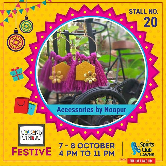 It's time to zest up the festive feel It's time to deck up with zeal It's time for Diwali with something new  This Diwali #accessoriesbynoopur brings you out of the ordinary Hand-crafted, lightweight accessories in unique shapes that are sure to please You & Your outfit ! @accessories_by_noopur  #weekendwindow #theideabaginc #curatedevent #diwalishopping #weekendwindowfestive #prediwali #shopping #diwaligifting #sportsclubofgujarat #diwalivibes #festivevibes #festivities #shoptillyoudrop #kidsactivities #workshops #art #craft #Foodaholics #Fun #Entertainment #music #enjoyement #love #foodporn #foodbitting #Fleamarket #newfashiontrends