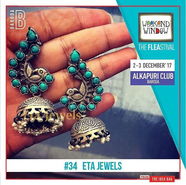 @etajewels Epitomizing traditional Indian jewelry, Eta jewels believes in tradition, the purest and rare heritage of India and committed to create a piece combining both nature and emotions.  Date: 2nd -3rd Dec 2017 Venue: Alkapuri Club lawn. Time: 4 p.m. to 11 p.m. #WeekendWindow #entertainment #Barodabeready #Masti #Fun #Lights #thefleastival