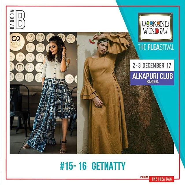 @getnatty_official works with super talented fashion designers from all over the country and presents you with fresh collections and curated designs that will appeal to every fashion fashionista. At GetNatty you can Discover, Interact, Engage and Transact directly with Fashion Designers of your choice and stay updated & seek inspiration on the latest in Fashion Design.  Date: 2-3 December, 2017 Time: 4 pm to 11 pm Venue: Alkapuri Club Lawn, Baroda #weekendwindow #theFLEAstival #shop #explore #induge #ahmedabad #barodaherewecome