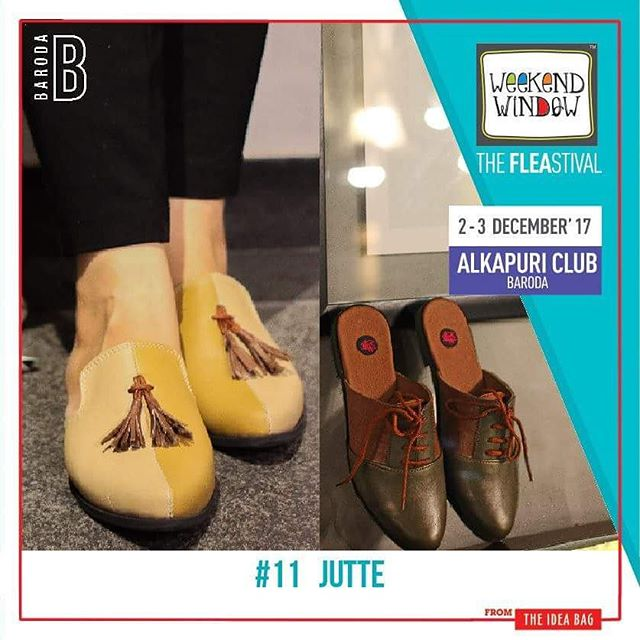 JUTTE Shoes are the finishing touch on any outfit and it is important to complete a look with the perfect pair. Girls & Boys,the season is exploding with style trends you must take a note off, you surely would not want to miss the new collection of @jutte2015 at Weekend Window.  Date: 2-3 December, 2017 Time: 4 pm to 11 pm Venue: Alkapuri Club Lawn, Baroda #weekendwindow #theFLEAstival #shop #explore #induge #ahmedabad #barodaherewecome