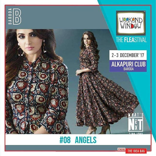 Indo-Western clothing from Angel collection. All sought of check prints and variety of printed kurtis and dresses.  Date: 2-3 December, 2017 Time: 4 pm to 11 pm Venue: Alkapuri Club Lawn, Baroda #weekendwindow #theFLEAstival #shop #explore #induge #ahmedabad #barodaherewecome
