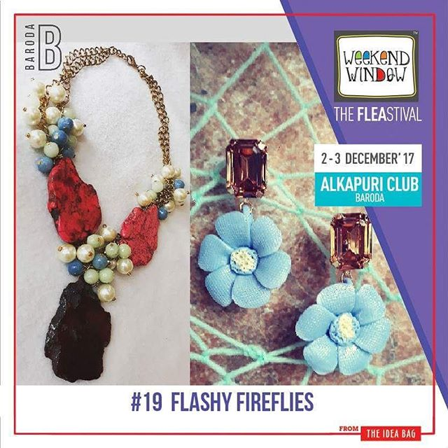 @fireflies_theshop by Richa Daryanani, A happy accessories brand, provides you with unique and never seen before handmade accessories. Each piece, being handmade is exclusive and has its own charm  Date: 2-3 December, 2017 Time: 4 pm to 11 pm Venue: Alkapuri Club Lawn, Baroda #weekendwindow #theFLEAstival #shop #explore #induge #ahmedabad #barodaherewecome