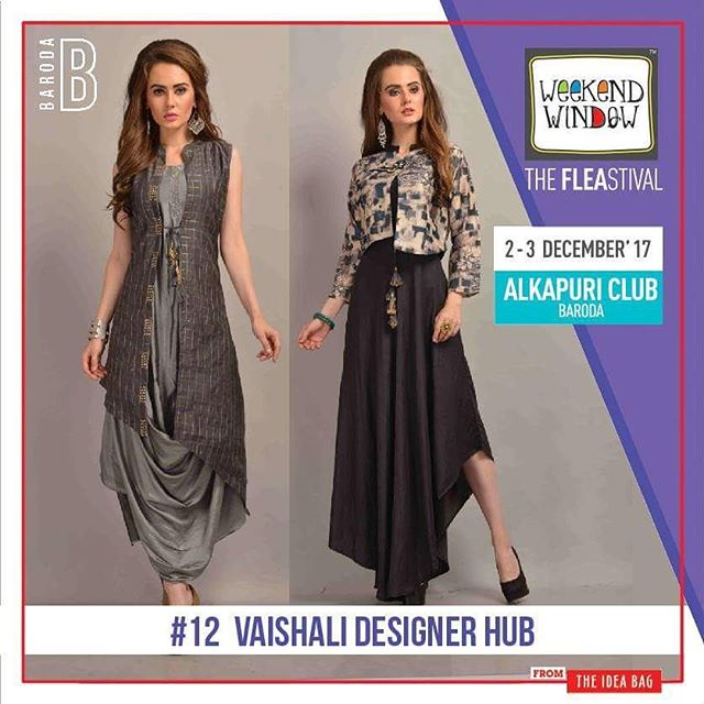 Vaishali Designer Hub has a collection of indo - western kurtis & long dresses which can be worn in any function. vibrant designs and colors at the festival.  Date: 2-3 December, 2017 Time: 4 pm to 11 pm Venue: Alkapuri Club Lawn, Baroda #weekendwindow #theFLEAstival #shop #explore #induge #ahmedabad #barodaherewecome