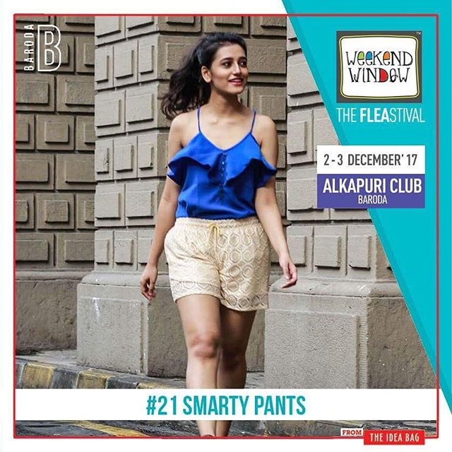 @smartypants.allaboutstyle is all about style for fashion lovers. They deal in premium quality fabrics for stylish western wear and at affordable prices.  Date: 2-3 December, 2017 Time: 4 pm to 11 pm Venue: Alkapuri Club Lawn, Baroda #weekendwindow #theFLEAstival #shop #explore #induge #ahmedabad #barodaherewecome