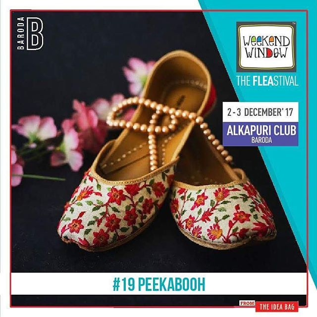@peek.a.booh #wefoundyou is a designer leather footwear brand with an evolutionary taste forecasting the modern fashion trend.  Date: 2-3 December, 2017 Time: 4 pm to 11 pm Venue: Alkapuri Club Lawn, Baroda #weekendwindow #theFLEAstival #shop #explore #induge #ahmedabad #barodaherewecome