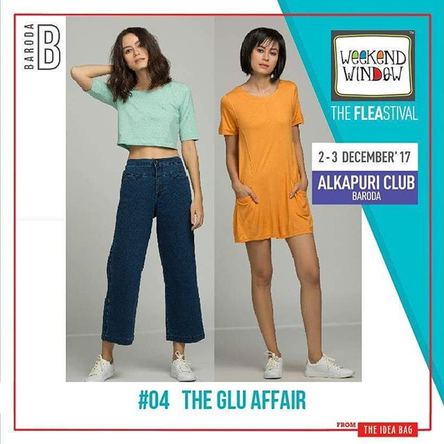 @thegluaffair brand designs theme-based collection in collaboration with multiple illustrators and designers. We only use sustainable fabrics and release new designs every two weeks.  Date: 2-3 December, 2017 Time: 4 pm to 11 pm Venue: Alkapuri Club Lawn, Baroda #weekendwindow #theFLEAstival #shop #explore #induge #ahmedabad #barodaherewecome