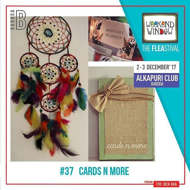 @cards.n.more crafts handmade cards and customize cards as well for our loved ones.  Date: 2-3 December, 2017 Time: 4 pm to 11 pm Venue: Alkapuri Club Lawn, Baroda #weekendwindow #theFLEAstival #shop #explore #induge #ahmedabad #barodaherewecome