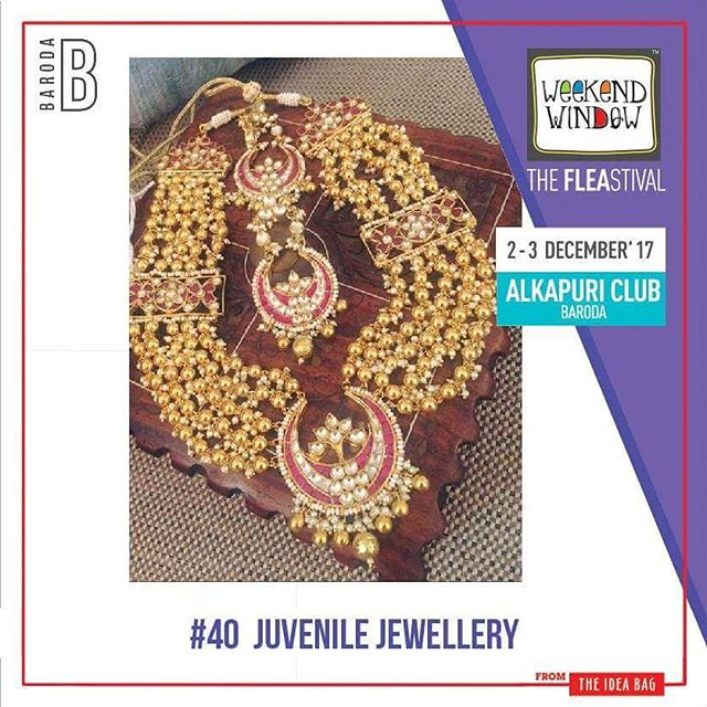 @juvenilethedesignerjewellery - it show cases designer jewellery, accesories. They have exclusive traditional  jewellery as well as wedding collection.  Date: 2-3 December, 2017 Time: 4 pm to 11 pm Venue: Alkapuri Club Lawn, Baroda #weekendwindow #theFLEAstival #shop #explore #induge #ahmedabad #barodaherewecome