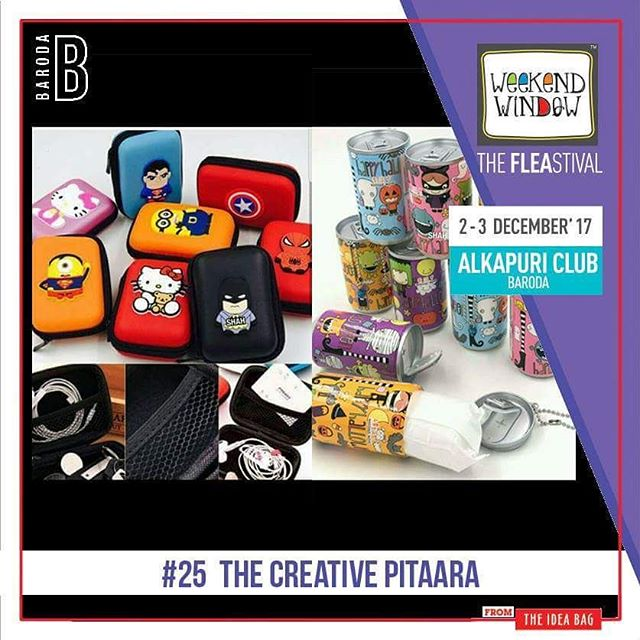@thecreativepitara Gifting is always an ART ... but SELECTING one is always a tricky job... one shop stop ... Makes it easier for you to choose from a wide range of gifts for all occasions.  Date: 2-3 December, 2017 Time: 4 pm to 11 pm Venue: Alkapuri Club Lawn, Baroda #weekendwindow #theFLEAstival #shop #explore #induge #ahmedabad #barodaherewecome