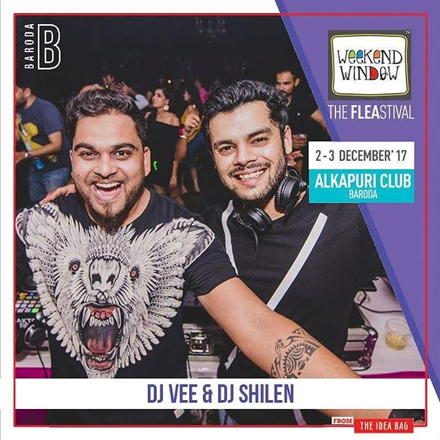 DJ @vishalsoni_vee & DJ @shilen_sharma , all the way from Ahmedabad, are performing live at @weekendwindow Edition 2 in Baroda. Get ready to sway with the grooves of their EDM music... #2daystogo  Date: 2-3 December, 2017 Time: 4 pm to 11 pm Venue: Alkapuri Club Lawn, Baroda #weekendwindow #theFLEAstival #shop #explore #induge #ahmedabad #barodaherewecome