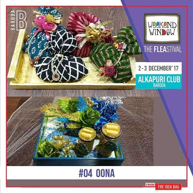 @oonaconceptstudio is a name reminiscing with interesting ranges of gift and decorative items like Metal Craft, Decorative Metal Tray, Baby Gift, Decorative Gift Packaging and many more such very beautiful items. Come check out their collection for your New Year gifting ideas.. Date: 2-3 December, 2017 Time: 4 pm to 11 pm Venue: Alkapuri Club Lawn, Baroda #weekendwindow #theFLEAstival #theunbeatable #shop #explore #induge #ahmedabad #barodaherewecome