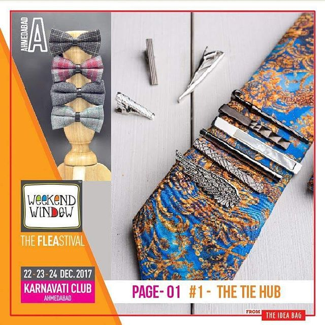 @thetiehub The one stop destination for stylish men's accessories including neckties, bow ties, cufflinks, scarfs, belts and a wide range of other products.  Date: 22-23-24 December, 2017 Time: 4 pm to 11 pm Venue: Karnavati Club Lawn, Ahmedabad #weekendwindow #theFLEAstival #theunbeatable #shop #explore #indulge #fleamarket #workshops #love #BeardoWeekendWindow