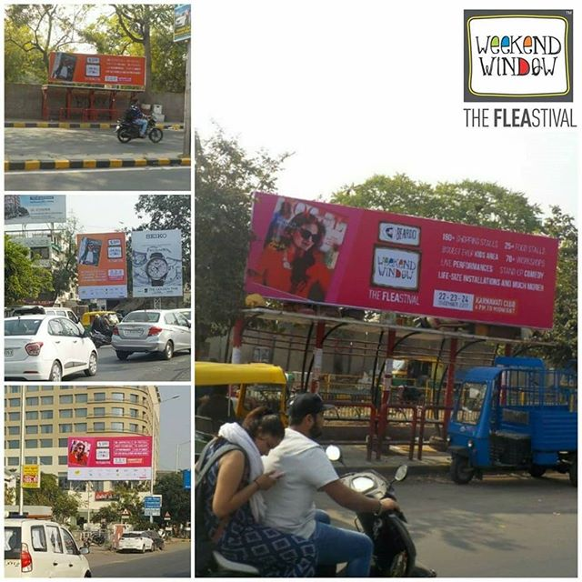 Our hoardings have taken over some of the most prime locations of Ahmedabad! We are super excited to begin with the countdown!  See you all at this Weekend!!!!! Date: 22-23-24 December, 2017 Time: 4 pm to Mid night Venue: Karnavati Club Lawn, Ahmedabad #weekendwindow #theFLEAstival #theunbeatable #shop #explore #indulge #fleamarket #workshops #love #BeardoWeekendWindow #foodaholicsinahmedabad