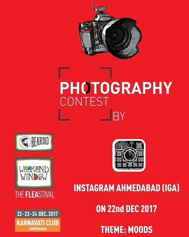 Excited to announce Photography Contest by INSTAGRAM AHMEDABAD ( IGA ). Join us Beardo Weekend Window XII Edition - Ahmedabad & participate in this unique